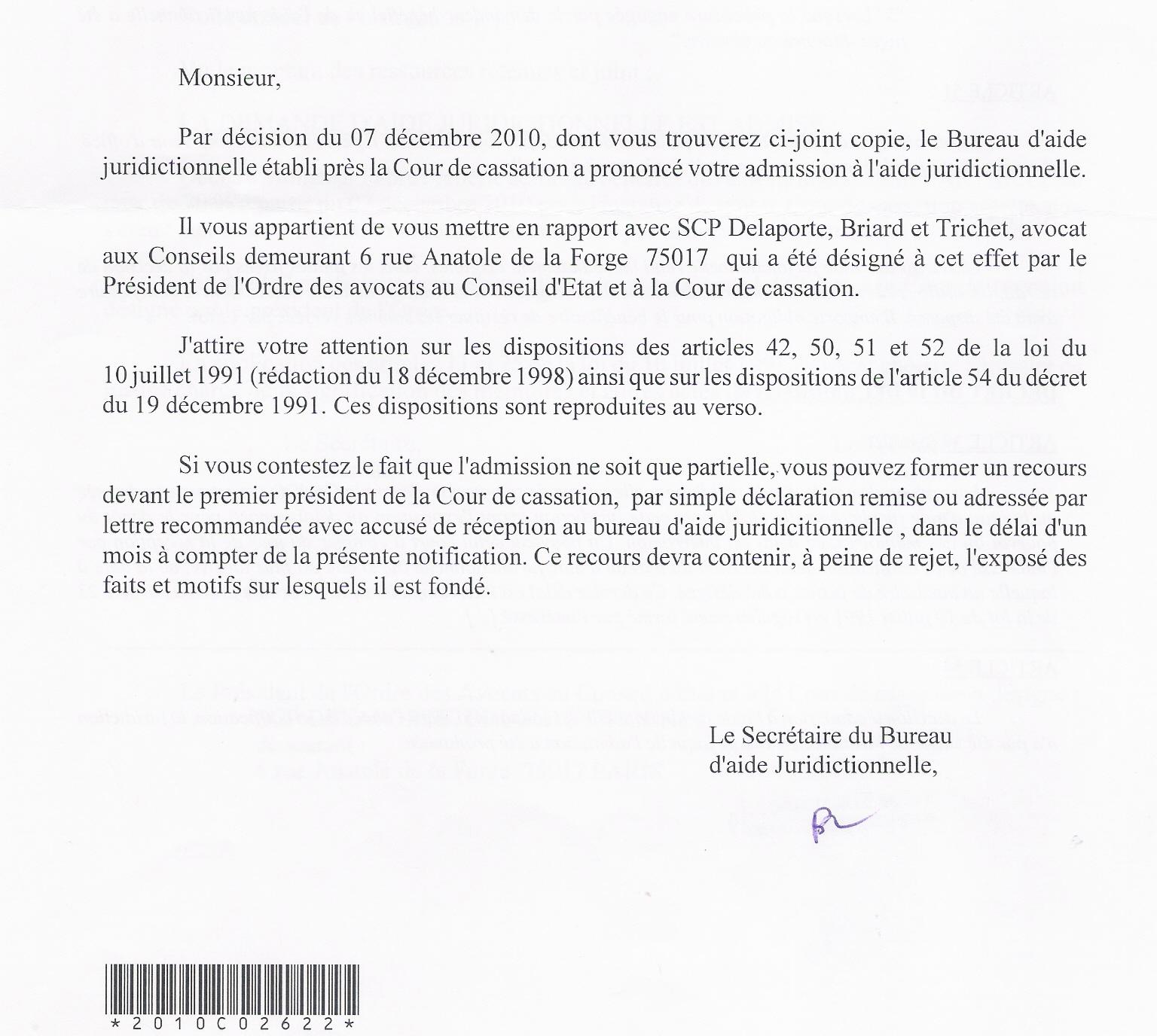 Audience solennelle de la cour de cassation du 18 janvier 2013 - Bureau d aide juridictionnelle paris ...